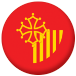 Languedoc-Roussillon Province Flag 58mm Button Badge